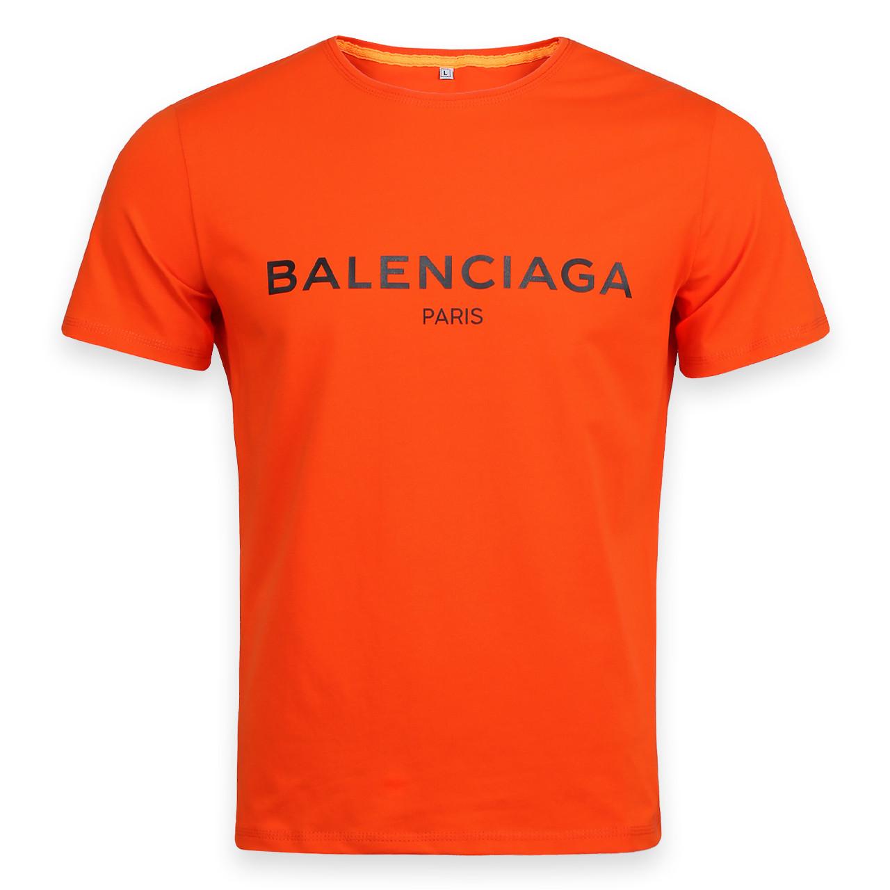 Футболка мужская оранжевая с принтом BALENCIAGA Ф-10 ORN XXL(Р) 19-646-020
