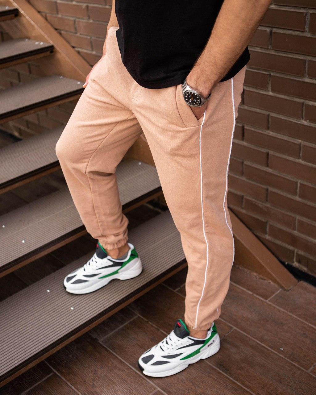 Мужские бежевые спортивные штаны