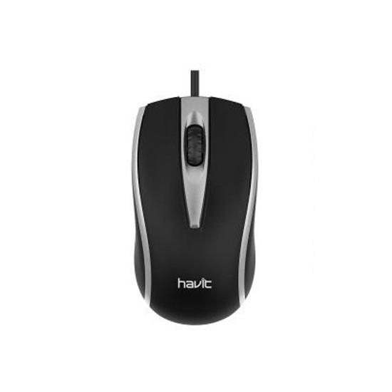 Компьютерная мышь HAVIT-MS871 USB проводная серая