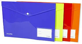 """Папка - конверт A4 с кнопкой """"Standart"""" 25S, mix, 3616-A4"""