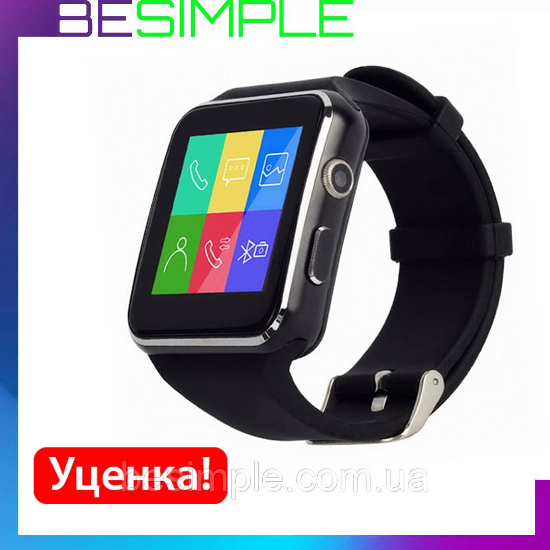 УЦІНКА! Розумні годинник-телефон Smart Watch X6 (E6, X6D) (Чорні) + Подарунок. (273508 274700)
