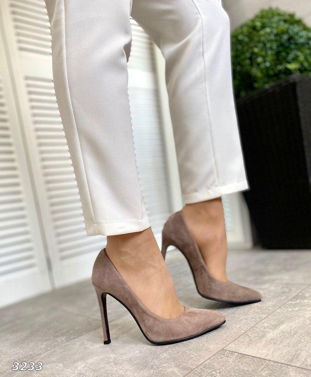 Шикарные замшевые туфли на шпильке 36-40 р визон