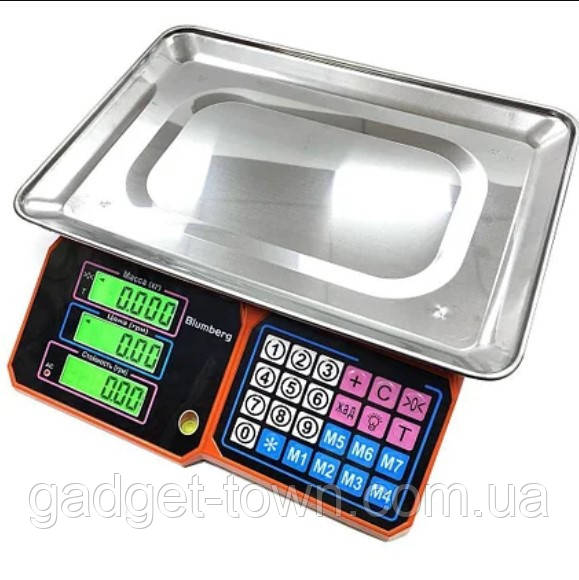 Весы торговые электронные с металлической платформой до 50 кг Blumberg YZ-218