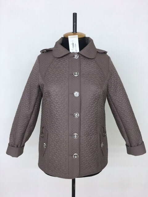 Куртка женская демисезонная стеганная на пуговицах размеры 50-60