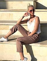 """Укороченные женские брюки """"VENUS"""" с карманами и манжетами, фото 2"""