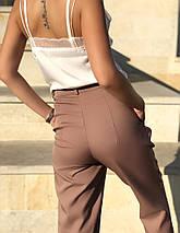 """Укороченные женские брюки """"VENUS"""" с карманами и манжетами, фото 3"""