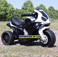 Детский трехколесный мотоцикл на аккумуляторе BMW S1000 RR, JT5188L-3 белый