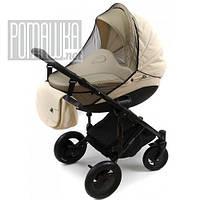 Большая москитная сетка на детскую коляску люльку прогулку универсальная 115*75 для детской коляски Черная