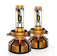 Автолампи LED C6 H7 золота. Автомобільна лампа. LED лампа для автомобіля., фото 1