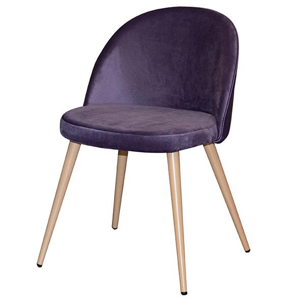 Стул обеденный деревянный мягкий Паркер  PRESTOL, фиолетовый