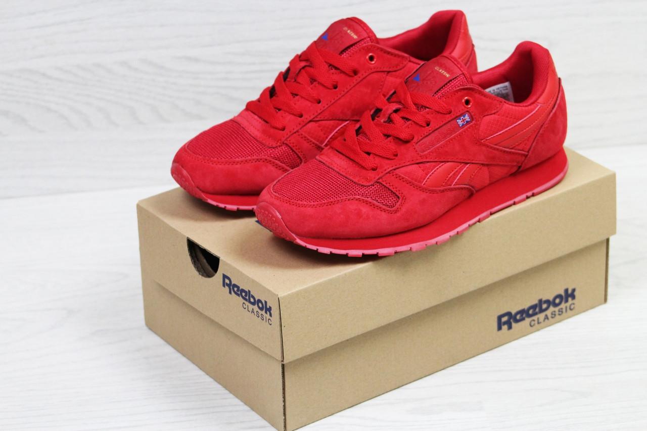 Кроссовки мужские демисезонные замшевые красные