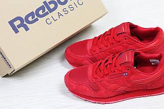 Кроссовки мужские демисезонные замшевые красные, фото 3