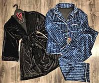 Велюровый комплект одежды для сна и отдыха  ТМ Exclusive 084-029.