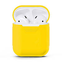 Чехол для наушников Grand для Apple AirPods silicone case Yellow 7061, КОД: 293015