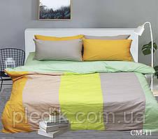 Двуспальное Евро постельное белье 200х220 Наволочки 4 шт. Color mix CM-11