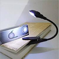 Світильник портативний на кліпсі, для книг (clip001Gray)
