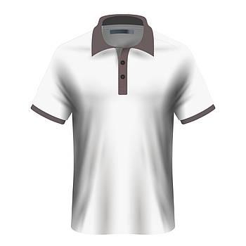 Мужская футболка поло для сублимации, белый/серый