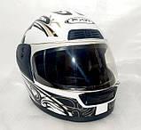 Шлем FXW HF-109 белый с черным, фото 2