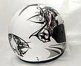 Шлем FXW HF-109 белый с черным, фото 4