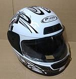 Шлем FXW HF-109 белый с черным, фото 6