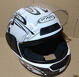 Шлем FXW HF-109 белый с черным, фото 7