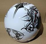Шлем FXW HF-109 белый с черным, фото 8
