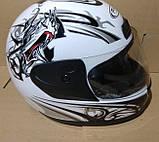 Шлем FXW HF-109 белый с черным, фото 9