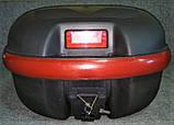 Кофр для мотоцикла средний, капроновый, черный матовый, фото 3