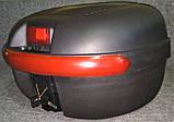 Кофр для мотоцикла средний, капроновый, черный матовый, фото 4