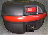 Кофр для мотоцикла средний, капроновый, черный матовый, фото 5