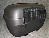 Кофр для мотоцикла средний, капроновый, черный матовый, фото 7