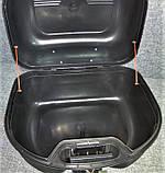 Кофр для мотоцикла средний, капроновый, черный матовый, фото 8