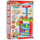 Детский игровой набор Супермаркет (магазин) 661-79 с прилавком, кассой, продуктами, корзиной и весами, фото 4