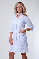 "Распродажа Медицинский халат женский 44 размер ""Health Life"" х/б белый 2131"