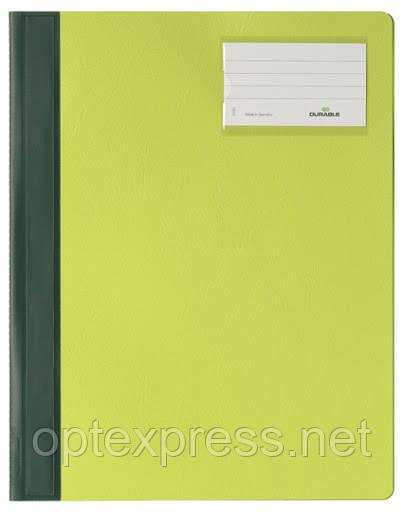 Папка-скоросшиватель пластиковая DURABLE А4+ зеленая