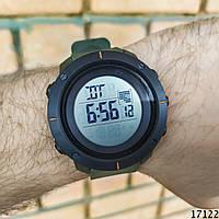 Мужские наручные часы хаки Skmei спортивные электронные. Годинник чоловічий