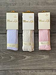 Детские колготы хлопок Moni Life ажурные 0-1,3-4  лет 6 шт в уп микс 3х цветов