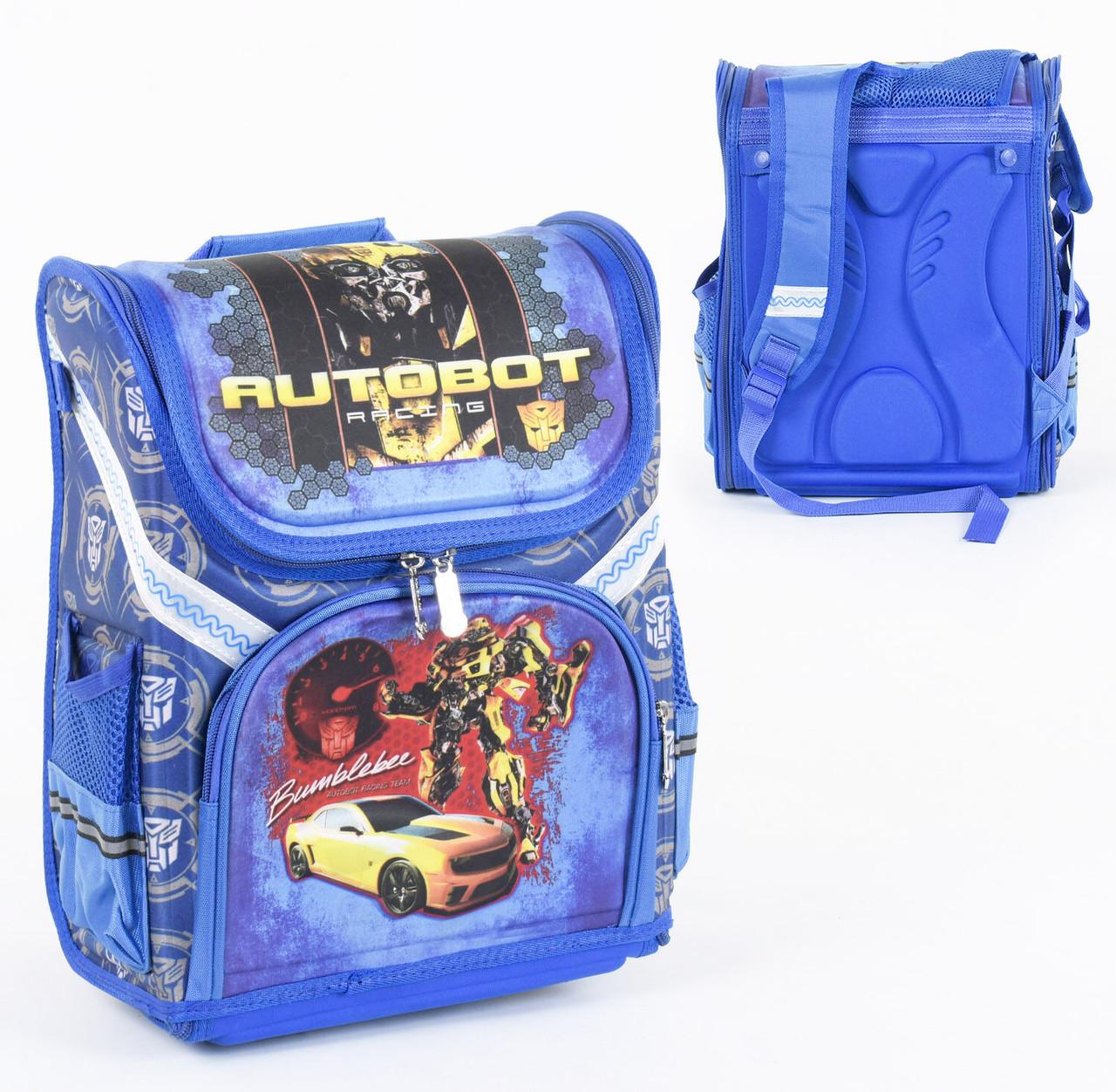 Рюкзак шкільний 2 відділення, 4 кишені, ортопедична спинка, 3D принт.