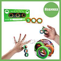Магнитные кольца FinGears Magnetic Rings Sets Size S Зеленые маленький размер фиджет спиннер антистресс магнит