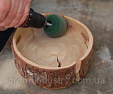 Набор шлифовальных шаров из шлифовального флиса ø 75 мм, из 3 штук, Kaindl Германия, фото 2