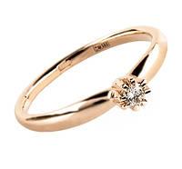 "Золота каблучка з діамантом ""Helen"" (розмір 17,5)"