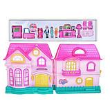 Ляльковий будиночок розкладний з ляльками і меблями арт.16526, фото 5