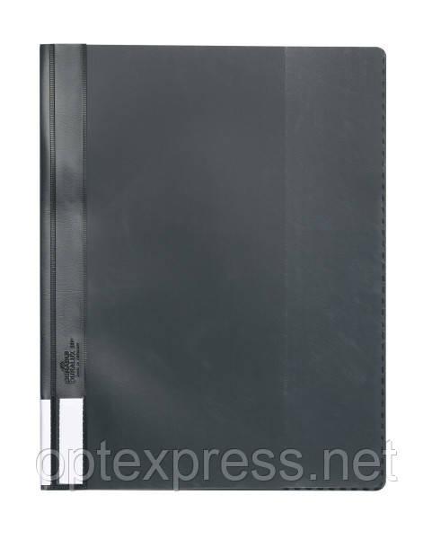 Папка-скоросшиватель пластиковая DURABLE ЛЮКС А4+  черная