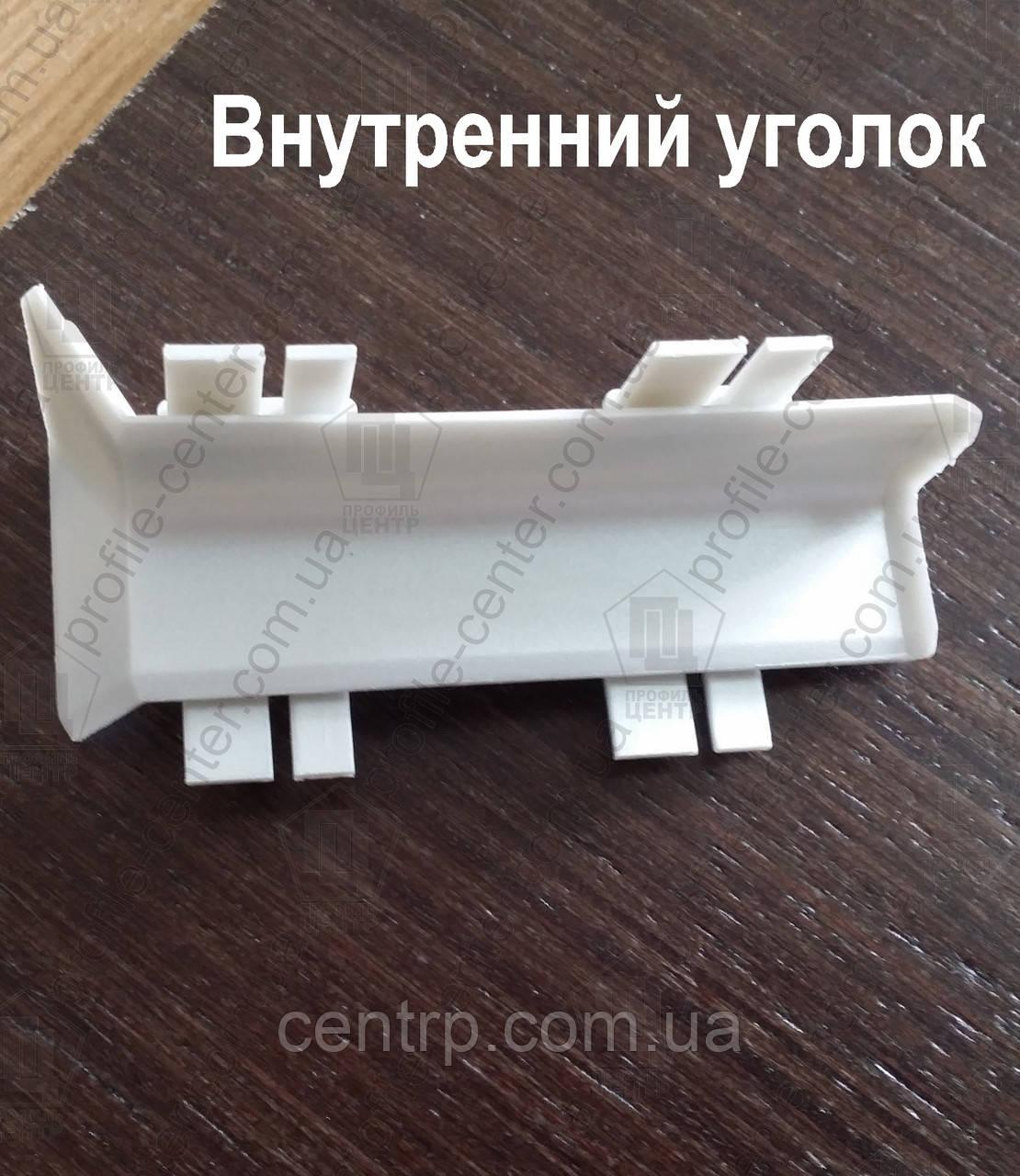 Внутренний уголок (полипропиленовый) для плинтуса Profilpas Metal Line 95/