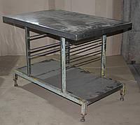 Стол-противень из нержавеющей стали на металл. основе 120х80х85 см., (Украина), Б/у