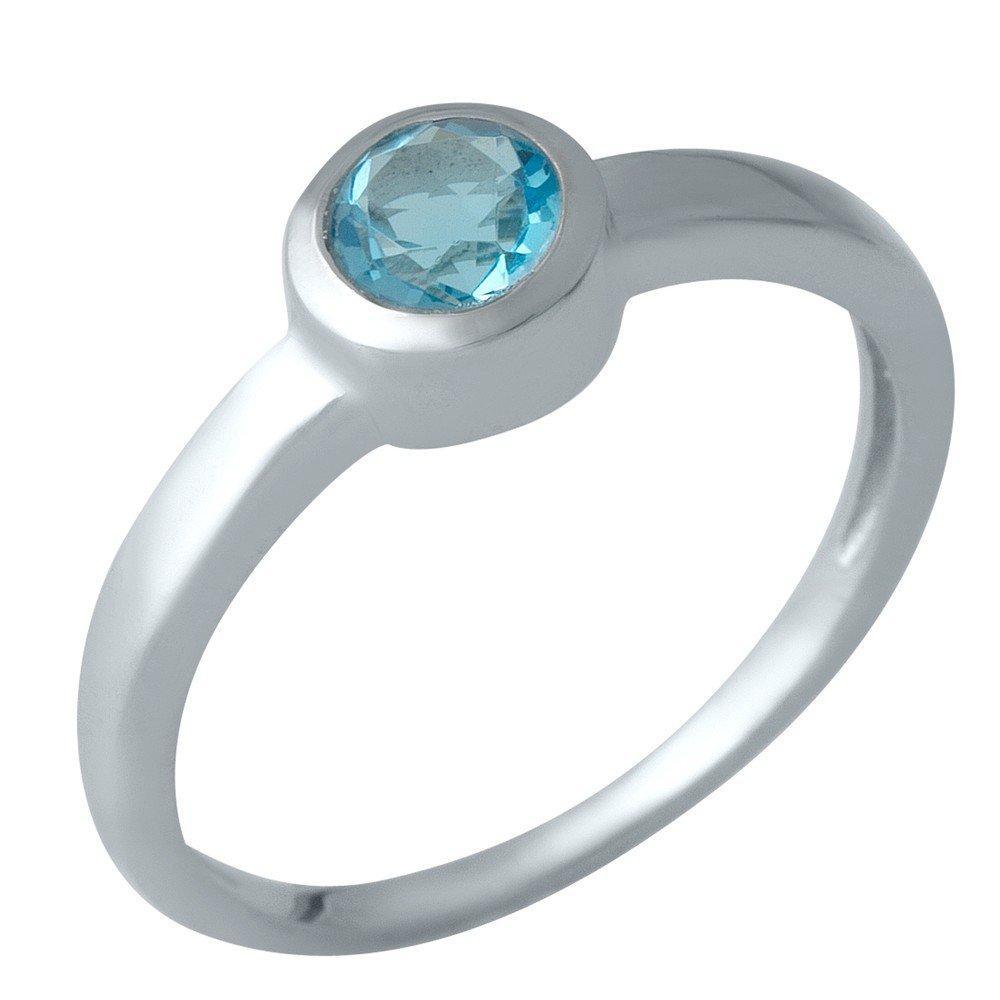 Серебряное кольцо DreamJewelry с аквамарином nano (1988787) 18 размер
