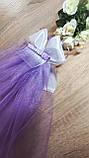 Фата для девичника на гребне Бант. Длина 50 см. Цвет лиловый., фото 4