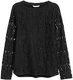 Блузка женская черная h&m, фото 2