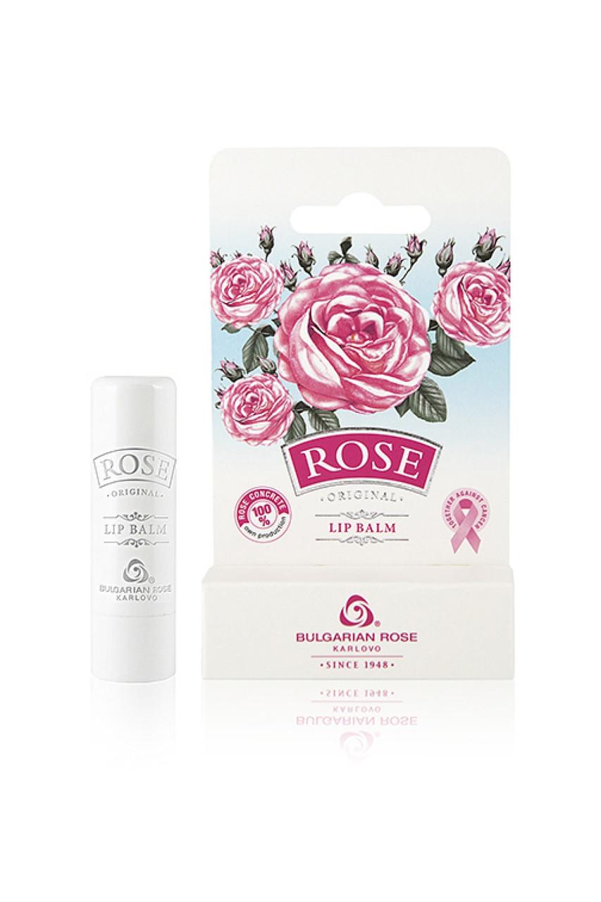 Бальзам для губ з трояндовим конкретом Rose Original від Bulgarian Rose 4.5 гр - стік