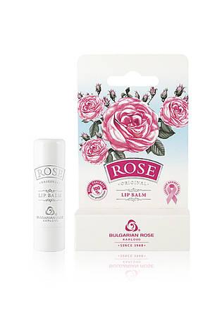Бальзам для губ з трояндовим конкретом Rose Original від Bulgarian Rose 4.5 гр - стік, фото 2